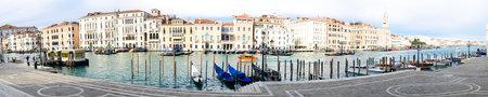 Panoramic view of Venice from Santa Maria della Salute church, in Venice, Veneto, Italy