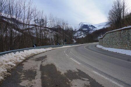 Italian landscape on road E74 Banco de Imagens - 37460941