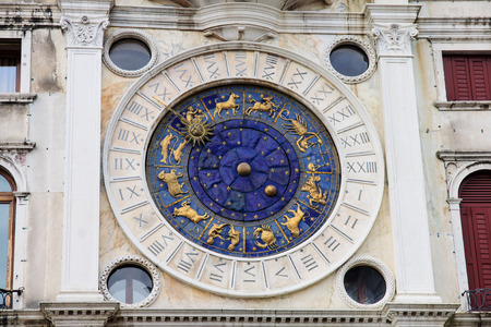 The Clock Tower in Piazza San Marco, in Venice, Veneto, Italy photo