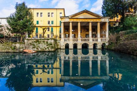 giardino: Giardino Salvi garden and the Loggia Valmarana, in Vicenza, Veneto, Italy Stock Photo