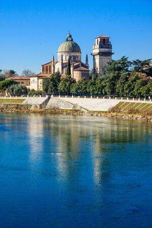 veneto: The Santo Stefano church in Verona, Veneto, Italy Stock Photo