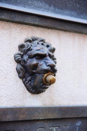 veneto: Lion shape doorbell in Venice, Veneto, Italy Stock Photo