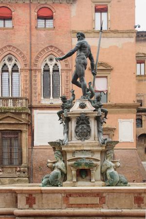 The Fountain of Neptune in Bologna, Emilia-Romagna, Italy photo