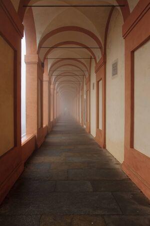 portico: The portico (covered walkway) to the Santuario di Madonna di San Luca, in Bologna, Emilia-Romagna, Italy