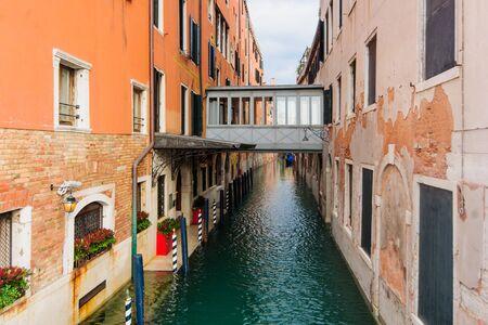 veneto: A bridge in Venice, Veneto, Italy Stock Photo