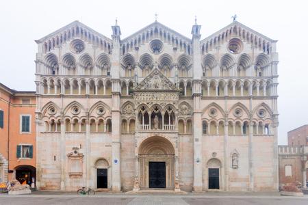 cattedrale: The Ferrara Cathedral (Basilica Cattedrale di San Giorgio, Duomo di Ferrara), in Ferrara, Emilia-Romagna, Italy