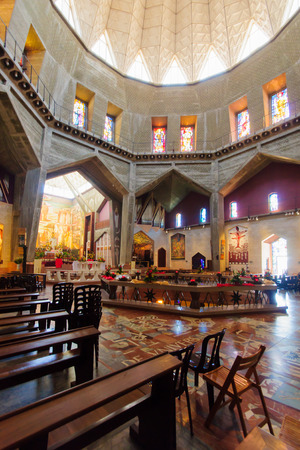 holyland: NAZARETH, ISRAEL - APR 05, 2015: The Church of the Annunciation, in Nazareth, Israel Editorial