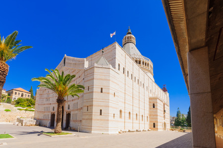 annunciation: The Church of Annunciation, in Nazareth, Israel Stock Photo