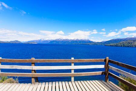 siete: Scenic View in Patagonia near Bariloche Argentina Stock Photo