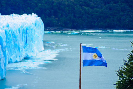Perito Moreno Glacier Lago Argentino the Patagonian province of Santa Cruz Argentina photo