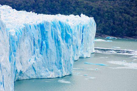 argentino: Perito Moreno Glacier Lago Argentino the Patagonian province of Santa Cruz Argentina Stock Photo