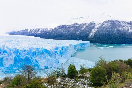perito moreno: Perito Moreno Glacier Lago Argentino the Patagonian province of Santa Cruz Argentina Stock Photo