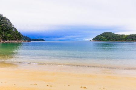 aotearoa: Beach landscape in Abel Tasman National Park South Island New Zealand Stock Photo