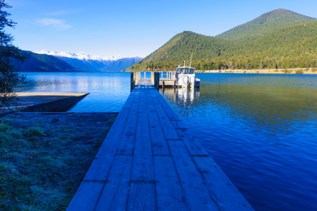 newzealand: Morning view in Nelson Lakes National Park New Zealand Stock Photo