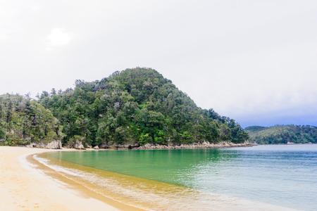 tasman: Beach landscape in Abel Tasman National Park South Island New Zealand Stock Photo