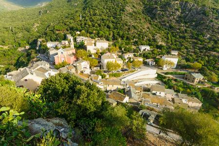 corse: The village of Nonza in Cap Corse Corsica France