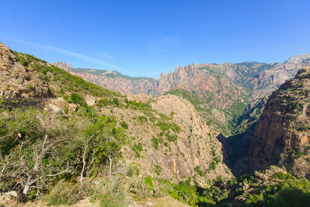 gorges: View of the Gorges de Spelunca in Corsica France