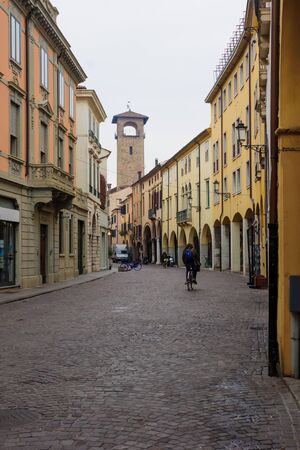 old center: A street in the ghetto area, in the old center of Padua, Veneto, Italy Stock Photo