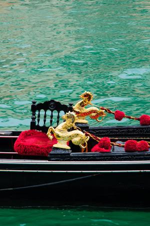 veneto: Gondolas. In Venice, Veneto, Italy