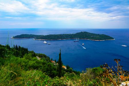 dalmatia: View of Lokrum Island, in Dubrovnik, Dalmatia, Croatia