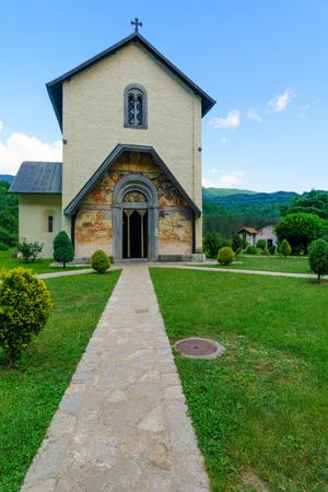 serbian: The Moraca Monastery, a Serbian Orthodox monastery in central Montenegro Stock Photo