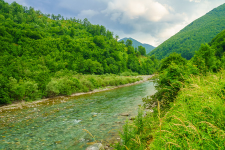 hill of tara: Tara River landscape near Mojkovac, central Montenegro
