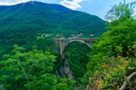 tara: The Durdevica Tara Bridge, across the Tara River Canyon, in northern Montenegro