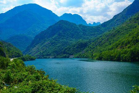 neretva: View of the Jablanicko Lake, on the Neretva River. Bosnia and Herzegovina