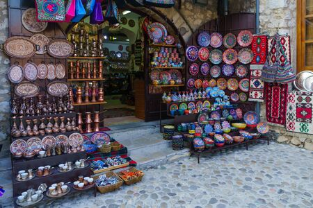 MOSTAR, BIH - JULY 05, 2015: Typical Souvenirs store, in Mostar, Bosnia and Herzegovina Editorial