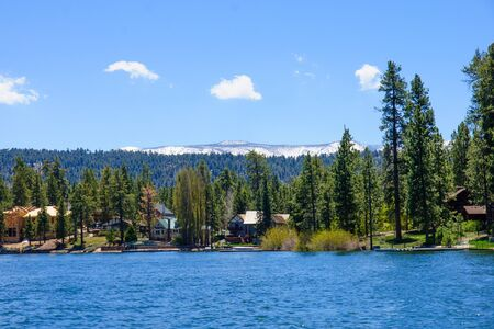 bear lake: Lake and landscape in Big Bear Lake, California, USA