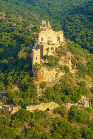 nahal: View of the Montfort Castle, a ruined crusader castle in the Upper Galilee region in northern Israel