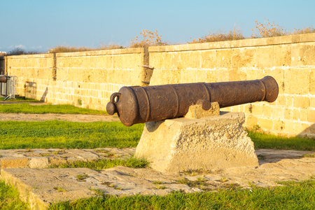 acre: Old guns on the city wall of Acre, Israel