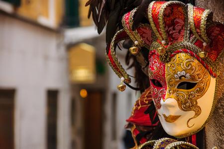 Typische carnaval masker, in Venetië, Veneto, Italië