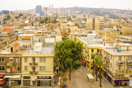 haifa: HAIFA, ISRAEL - NOVEMBER 06, 2015: The renewed Turkish market in downtown Haifa, Israel. Its an old market-store from the 1920s