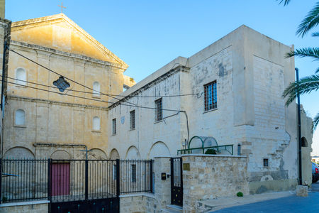 carmelite nun: The monastery of the Discalced barefoot Carmelites in Paris square, downtown Haifa, Israel