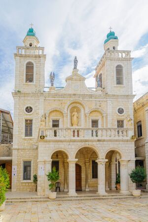 first miracle: KAFR KANNA, ISRAEL - DECEMBER 16, 2015: The Catholic Wedding Church, in the village Kafr Kanna, Israel Editorial