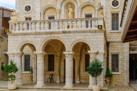 first miracle: The facade of the Catholic Wedding Church, in the village Kafr Kanna, Israel