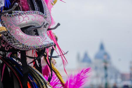 veneto: Typical carnival mask, in Venice, Veneto, Italy