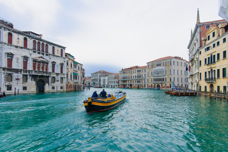 grand canal: The Grand Canal, in Venice, Veneto, Italy Stock Photo