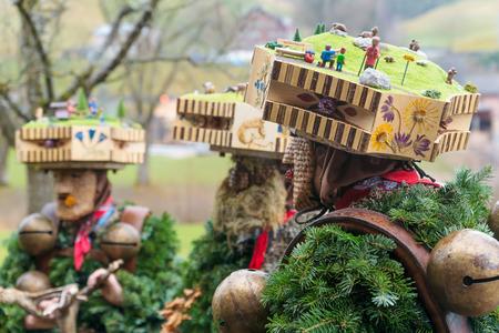Urnäsch, SCHWEIZ - 31. Dezember 2015: Neues Jahr Mummers Und ...
