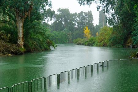 baptism of jesus: The Jordan River and the Yardenit Baptismal Site. Northern Israel
