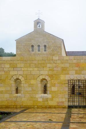multiplicacion: La Iglesia de la Multiplicación de los Panes y los Peces, en Tabgha, en la orilla noroeste del Mar de Galilea en Israel