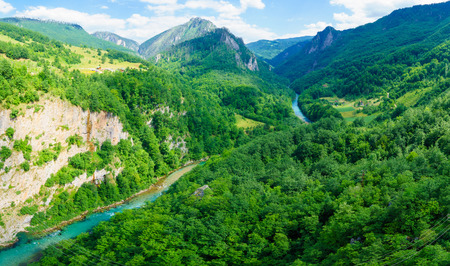tara: The Tara River and Canyon, and its countryside, in northern Montenegro
