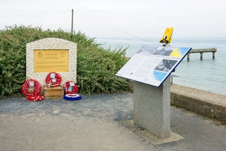 royal air force: OMAHA BEACH, FRANCE - SEPTEMBER 21, 2012: A Royal Air Force memorial near Omaha Beach, Normandy, France
