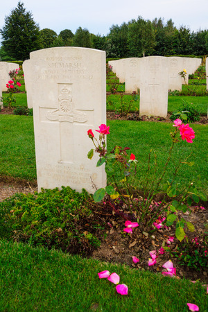 wwii: BAYEUX, FRANCE - SEPTEMBER 20, 2012: The memorial and WWII cemetery in Bayeux, Normandy, France.