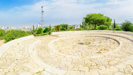 founders: View of an old vane in Horshat Hameyasdim (Founders Grove), commonly known as givat hashavshevet (vane hill), a public garden in Haifa, Israel Stock Photo