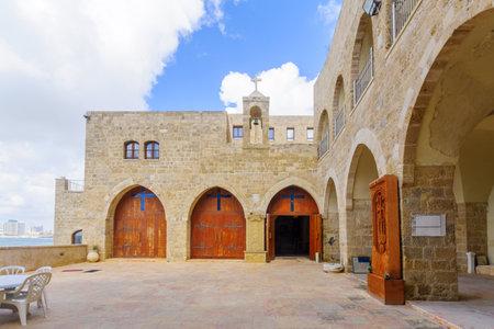 yafo: TEL-AVIV, ISRAEL - MAY 27, 2016: The Saint Nicholas Armenian Monastery, in the old city of Jaffa, Now part of Tel-Aviv Yafo, Israel Editorial