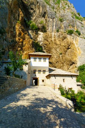 sufi: The Tekija, a Sufi Monastery, in Blagaj, Bosnia and Herzegovina