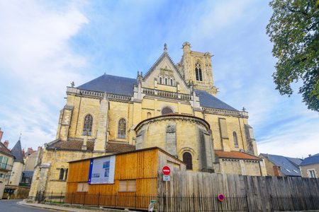NEVERS, FRANCE - OCTOBER 16, 2016: The Cathedral (Cathedrale Saint-Cyr-et-Sainte-Julitte), in Nevers, Burgundy, France