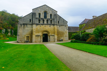 The Abbey of Fontenay church, in Burgundy, France